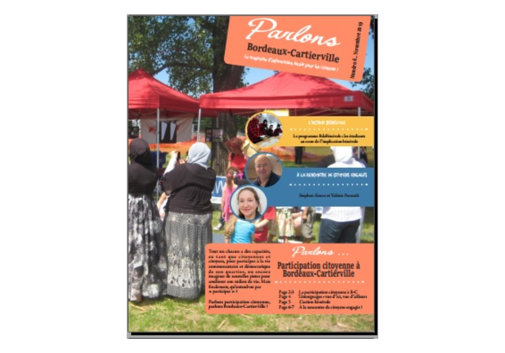 Dernière version du bulletin citoyen: Parlons... Participation citoyenne à Bordeaux-Cartierville