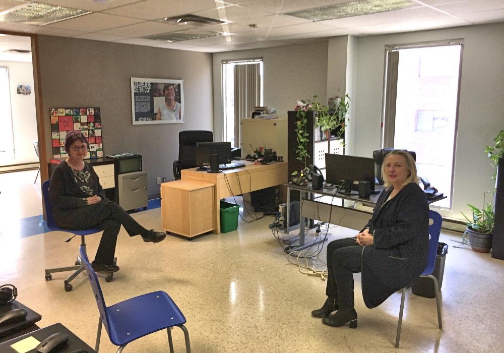 Madame Christine St-Pierre, députée de l'Acadie, en visite au CABBC